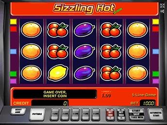 Sizzling Hot - автомат дает бонус после регистрации